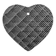 Grid Wire Mesh Stainless Rods Ornament (heart)