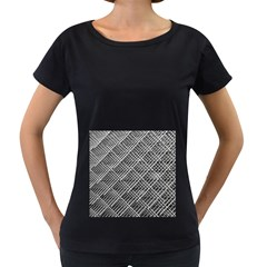 Grid Wire Mesh Stainless Rods Women s Loose Fit T Shirt (black) by Nexatart