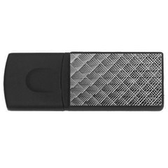 Grid Wire Mesh Stainless Rods Rectangular Usb Flash Drive by Nexatart