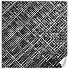 Grid Wire Mesh Stainless Rods Canvas 16  X 16   by Nexatart