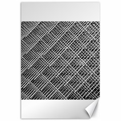 Grid Wire Mesh Stainless Rods Canvas 20  X 30   by Nexatart