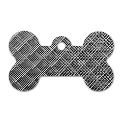 Grid Wire Mesh Stainless Rods Dog Tag Bone (two Sides) by Nexatart