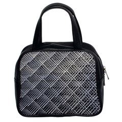 Grid Wire Mesh Stainless Rods Classic Handbags (2 Sides)
