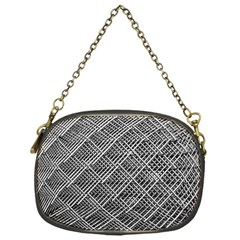 Grid Wire Mesh Stainless Rods Chain Purses (one Side)