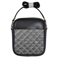 Grid Wire Mesh Stainless Rods Girls Sling Bags