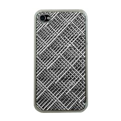 Grid Wire Mesh Stainless Rods Apple Iphone 4 Case (clear)