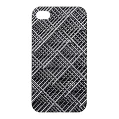 Grid Wire Mesh Stainless Rods Apple Iphone 4/4s Hardshell Case by Nexatart
