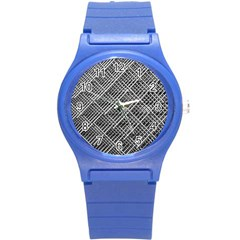 Grid Wire Mesh Stainless Rods Round Plastic Sport Watch (s)