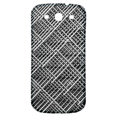 Grid Wire Mesh Stainless Rods Samsung Galaxy S3 S Iii Classic Hardshell Back Case by Nexatart