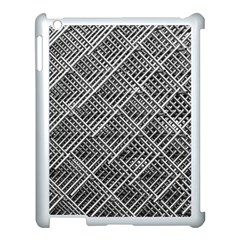 Grid Wire Mesh Stainless Rods Apple Ipad 3/4 Case (white) by Nexatart