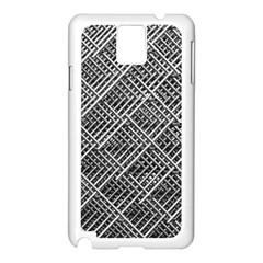 Grid Wire Mesh Stainless Rods Samsung Galaxy Note 3 N9005 Case (white)