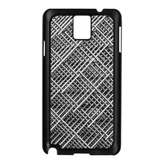 Grid Wire Mesh Stainless Rods Samsung Galaxy Note 3 N9005 Case (black)