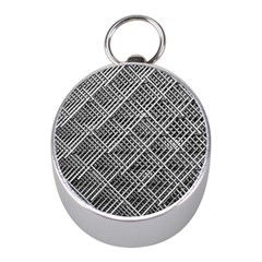 Grid Wire Mesh Stainless Rods Mini Silver Compasses