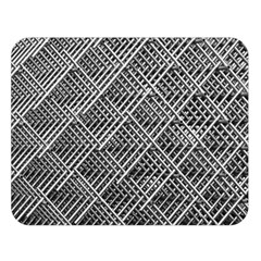 Grid Wire Mesh Stainless Rods Double Sided Flano Blanket (large)
