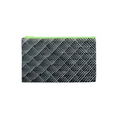 Grid Wire Mesh Stainless Rods Cosmetic Bag (xs)