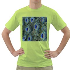 Peacock Feathers Blue Bird Nature Green T Shirt