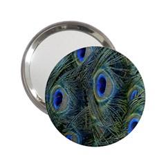 Peacock Feathers Blue Bird Nature 2 25  Handbag Mirrors by Nexatart