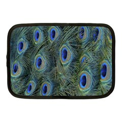 Peacock Feathers Blue Bird Nature Netbook Case (medium)