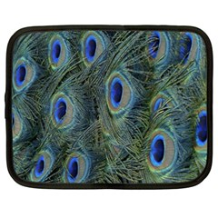 Peacock Feathers Blue Bird Nature Netbook Case (xxl)