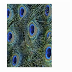 Peacock Feathers Blue Bird Nature Large Garden Flag (two Sides)