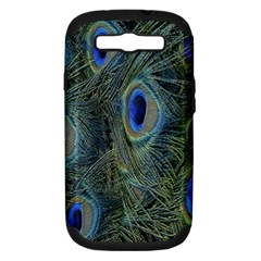 Peacock Feathers Blue Bird Nature Samsung Galaxy S Iii Hardshell Case (pc+silicone)