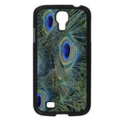Peacock Feathers Blue Bird Nature Samsung Galaxy S4 I9500/ I9505 Case (black)