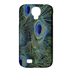 Peacock Feathers Blue Bird Nature Samsung Galaxy S4 Classic Hardshell Case (pc+silicone) by Nexatart