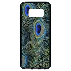 Peacock Feathers Blue Bird Nature Samsung Galaxy S8 Black Seamless Case