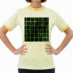 Matrix Earth Global International Women s Fitted Ringer T-Shirts
