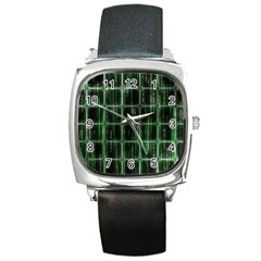 Matrix Earth Global International Square Metal Watch