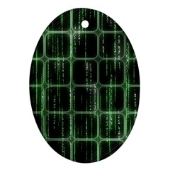 Matrix Earth Global International Oval Ornament (Two Sides)