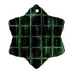 Matrix Earth Global International Snowflake Ornament (Two Sides)