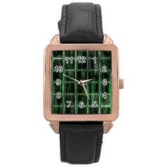 Matrix Earth Global International Rose Gold Leather Watch