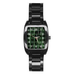 Matrix Earth Global International Stainless Steel Barrel Watch