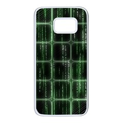 Matrix Earth Global International Samsung Galaxy S7 White Seamless Case by Nexatart
