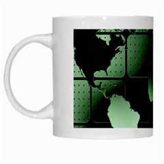 Matrix Earth Global International White Mugs by Nexatart