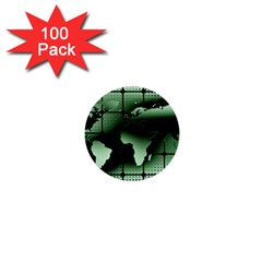 Matrix Earth Global International 1  Mini Buttons (100 Pack)
