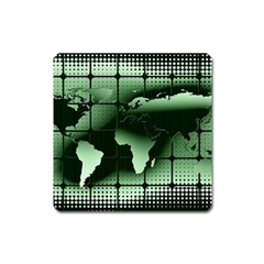 Matrix Earth Global International Square Magnet