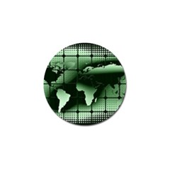 Matrix Earth Global International Golf Ball Marker