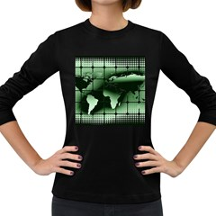 Matrix Earth Global International Women s Long Sleeve Dark T Shirts