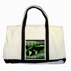 Matrix Earth Global International Two Tone Tote Bag by Nexatart
