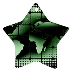 Matrix Earth Global International Star Ornament (two Sides)