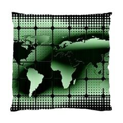 Matrix Earth Global International Standard Cushion Case (one Side) by Nexatart