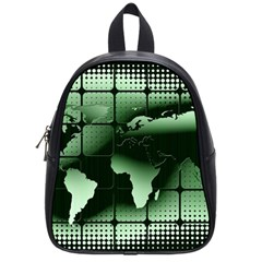 Matrix Earth Global International School Bag (small) by Nexatart