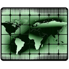 Matrix Earth Global International Fleece Blanket (medium)  by Nexatart