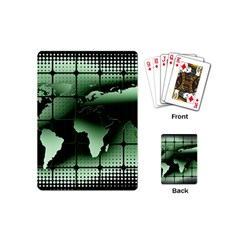Matrix Earth Global International Playing Cards (mini)  by Nexatart