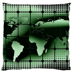 Matrix Earth Global International Large Cushion Case (one Side) by Nexatart