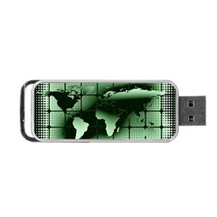Matrix Earth Global International Portable Usb Flash (two Sides) by Nexatart