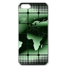 Matrix Earth Global International Apple Seamless Iphone 5 Case (clear) by Nexatart