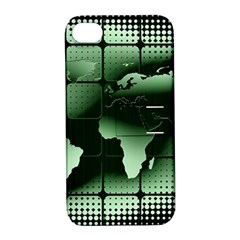 Matrix Earth Global International Apple Iphone 4/4s Hardshell Case With Stand by Nexatart